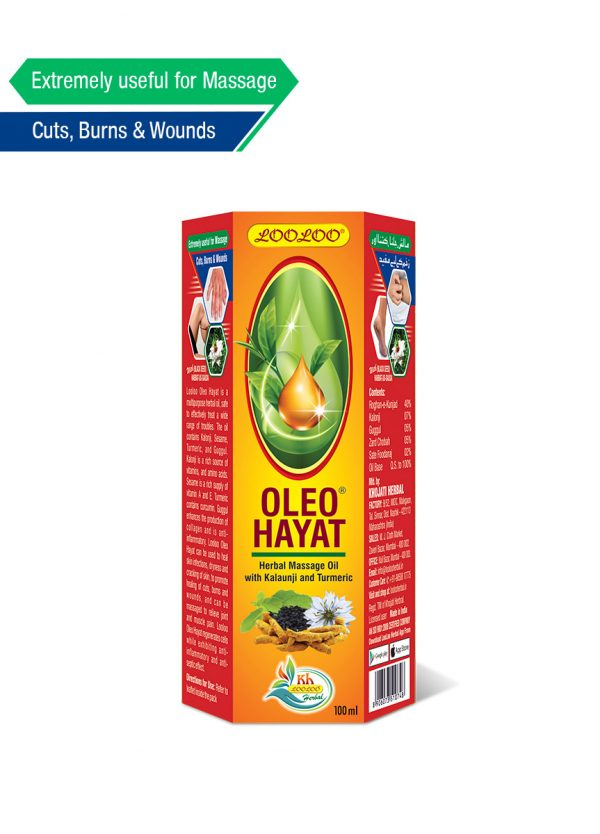 Looloo hearble Oleo Hayat 100ml muscle relief